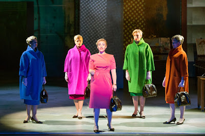 Nico Muhly: Marnie - Katie Coventry, Charlotte Beament, Sasha Cooke, Katie Stevenson, Emma Kerr - English National Opera (Photo Richard Hubert Smith)