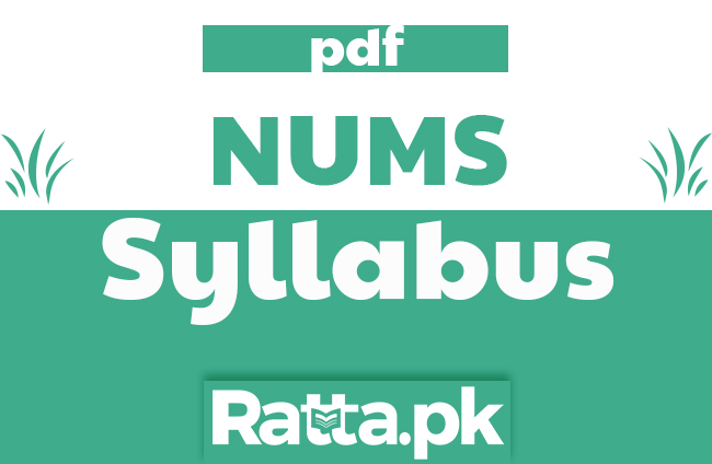 NUMS Entry Test Syllabus 2020