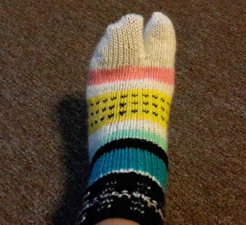 Anything Creative Split Toe Socks