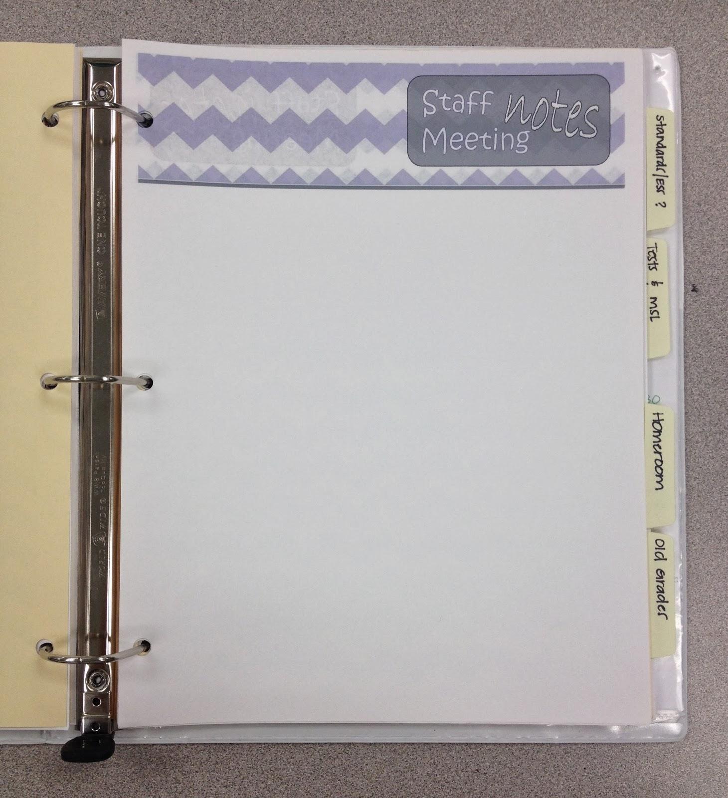 Organizing Overhaul: Teacher Binder