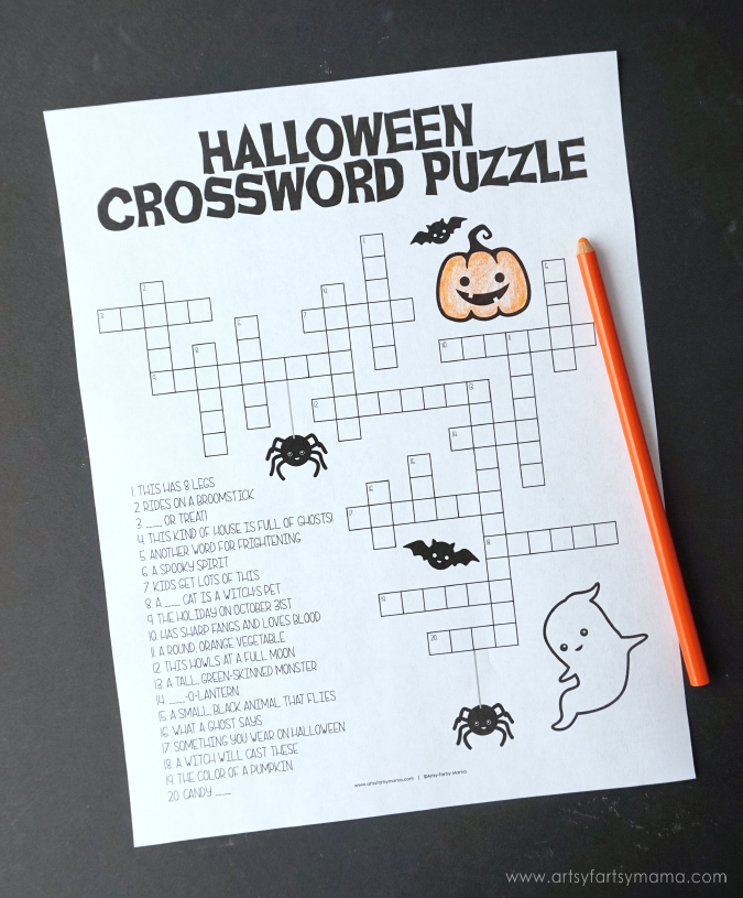 Free Printable Halloween Activity Pack - Halloween Crossword Puzzle