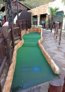 Jungle Jim's Adventure Golf course in Shanklin, Isle of Wight