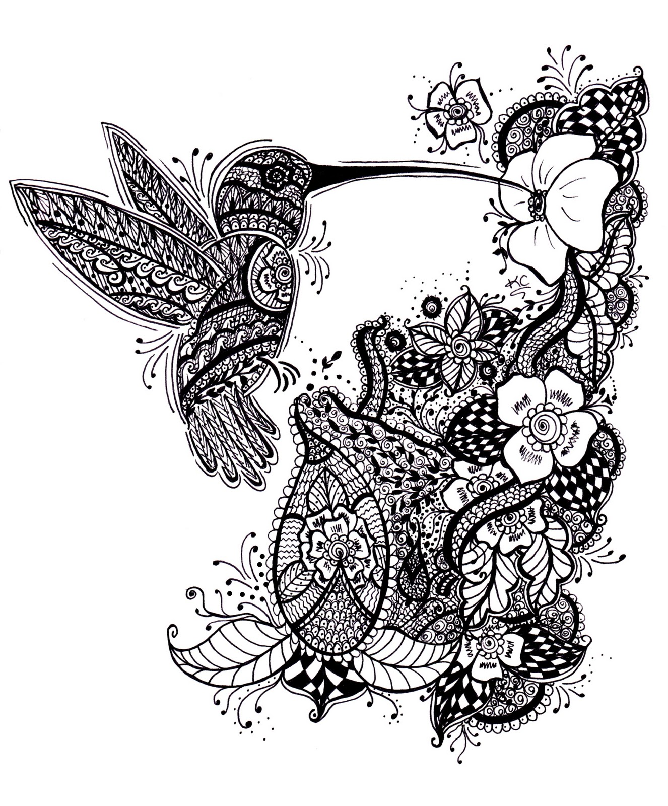 Bird Henna Tattoo Designs: Tattoos Of Humming Bird: Hummingbird Tattoo Black And White