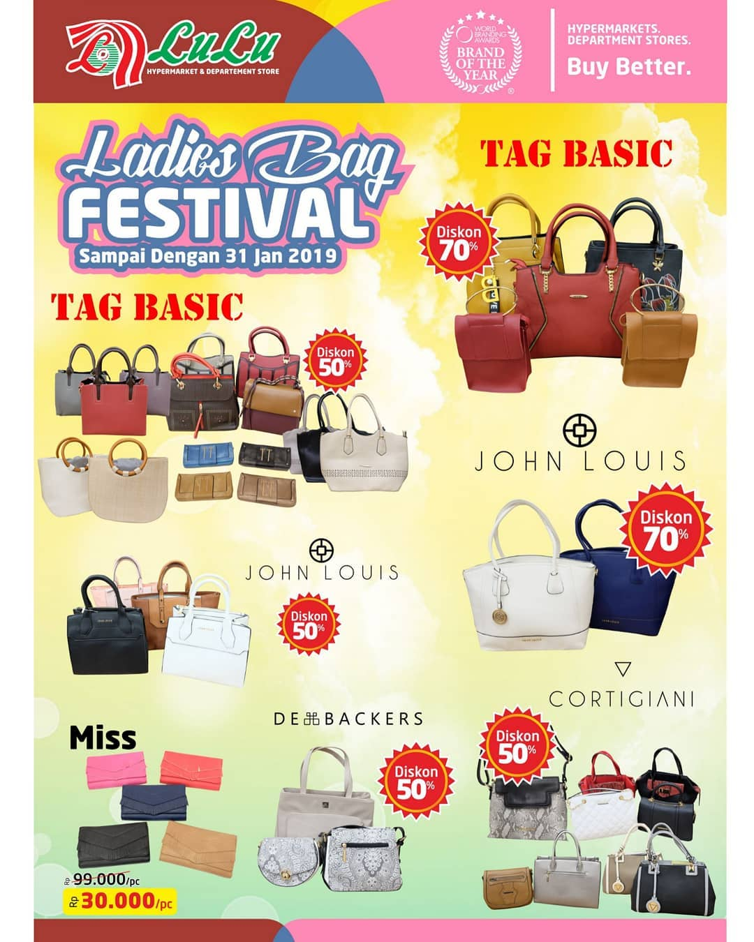 #LuluStore - Promo Ladies Bag Festival Diskon s.d 70% (s.d 31 Jan 2019)