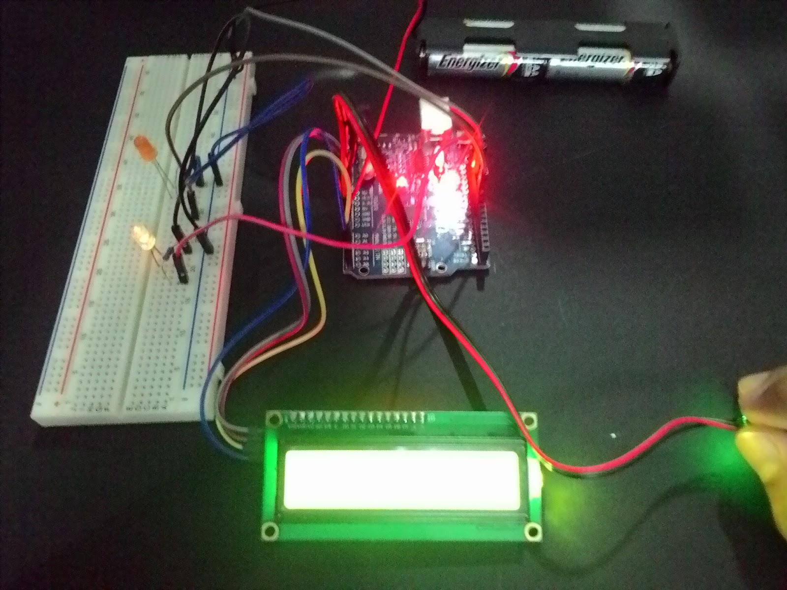 Pulse sensor arduino uno and lcd i c