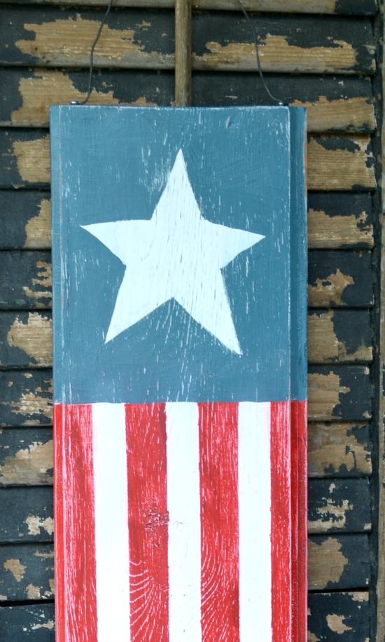Vertical Patriotic Flag Decoration