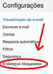Como desbloquear alguém do Yahoo Mail