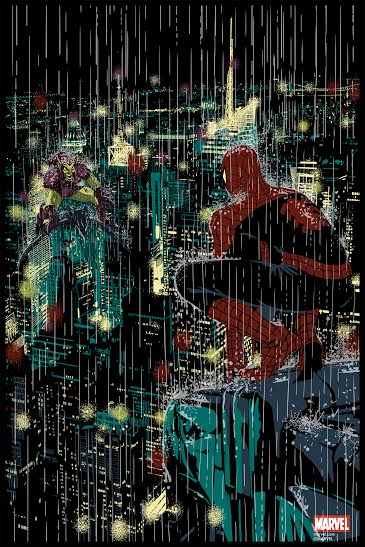 """Spider-Man vs Green Goblin"" Marvel Screen Print by Raid71 x Grey Matter Art"
