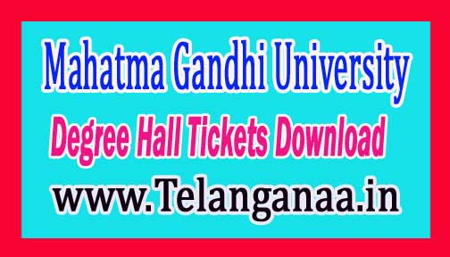 MGU Degree 1st Sem Hall Tickets 2016 Download @ mguniversity.in