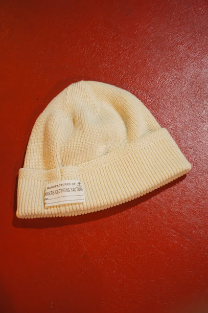 Workers Cotton Knit Cap Ecru