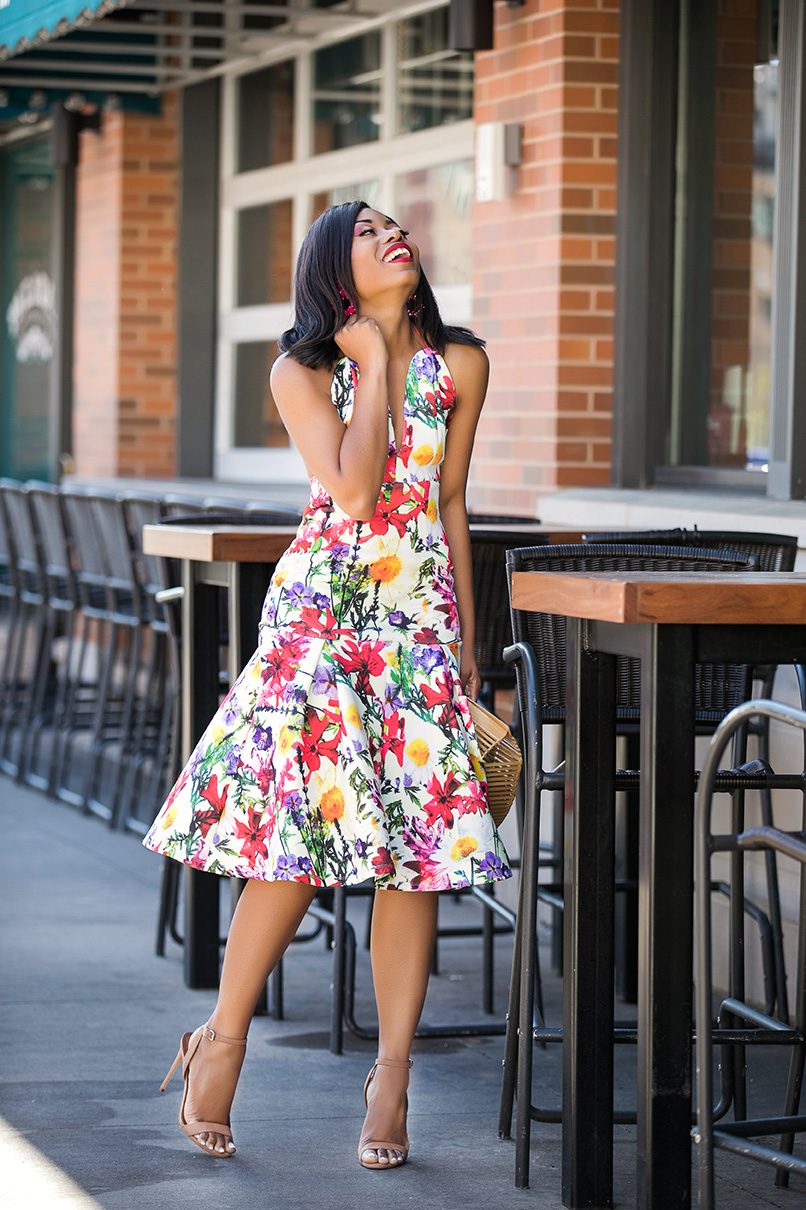 spring floral dress, www.jadore-fashion.com