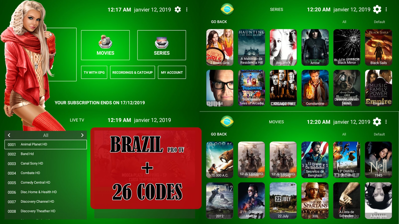 BRAZIL PRO TV PREMIUM IPTV TO WATCH BEST PREMIUM CHANNELS +