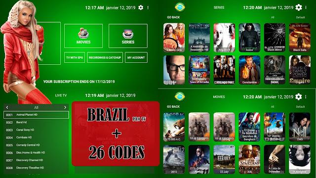 BRAZIL PRO TV PREMIUM IPTV TO WATCH BEST PREMIUM CHANNELS +  26 CODES