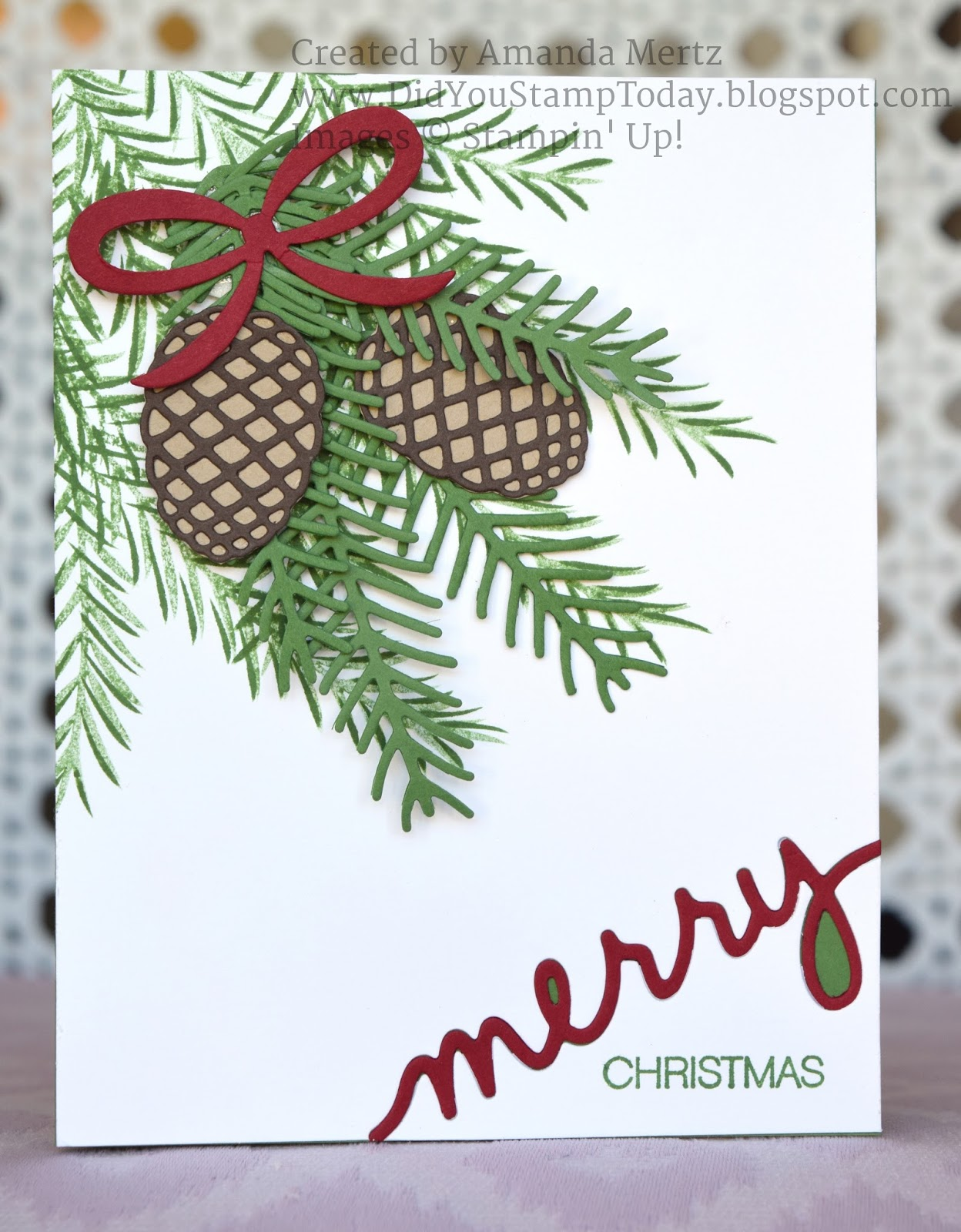 Christmas Greenery Images.Did You Stamp Today Christmas Greenery Stampin Up