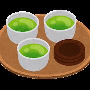 �盆�乗���茶�イラスト