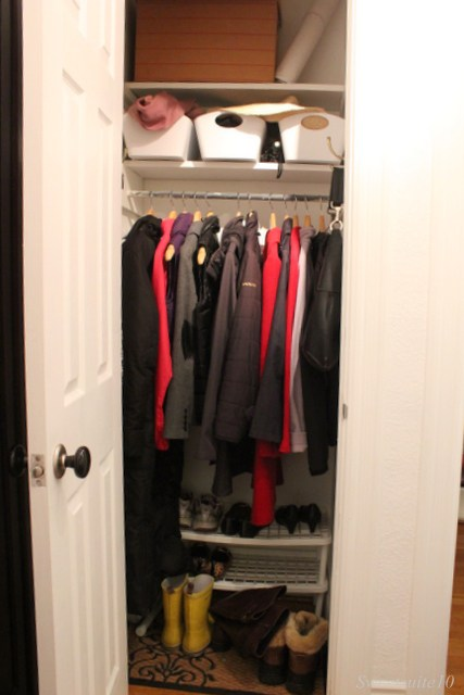 My front closet - organized