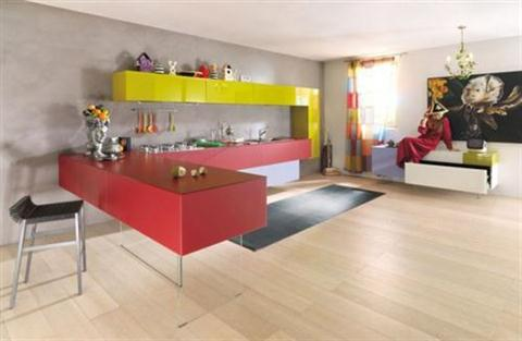 Colorful Kitchen Cabinet, Amazing Ideas To Change The Kitchen Interior