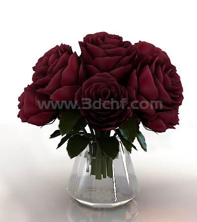 rose bucket 3d model free