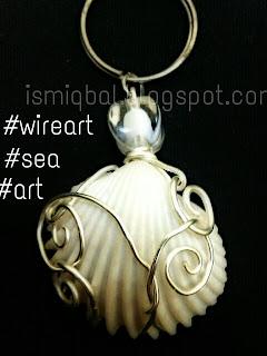 seni, dawai, kerang laut, seashells., kreatif