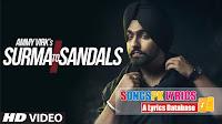Surma To Sandals Songs Lyrics – Ammy Virk