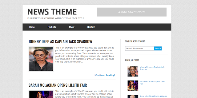 News Blogger Template - Genesis Theme