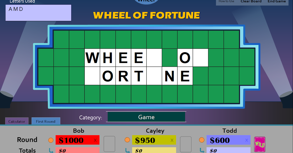wheel of fortune home page