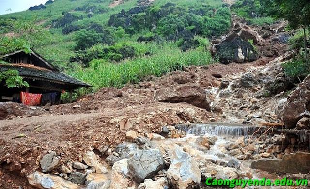 Thiệt hại do mưa lớn lũ quét ở Hà Giang