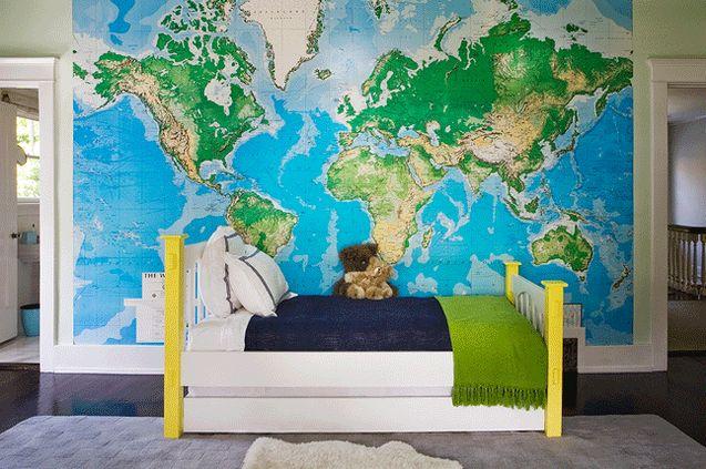 tapet världskarta barnrum karta barn fototapet fondtapet