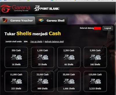 Cara Mendapatkan Cash Point Blank Garena Gratis $5 = 8250 Cash PB