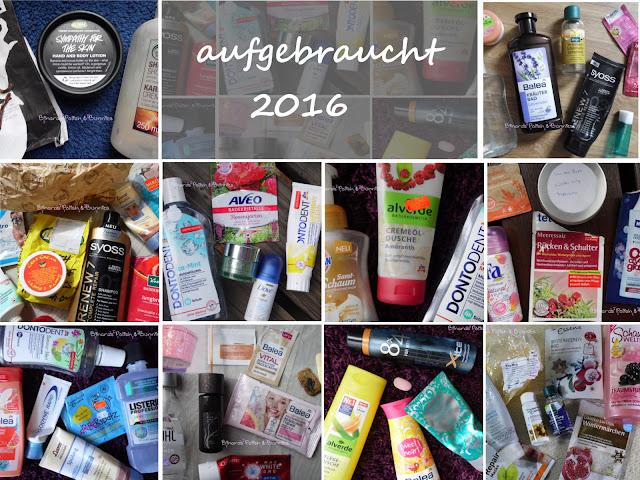 Aufgebrauchte Produkte 2016 - eine Übersicht