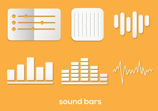 Sound Bar Vector Set