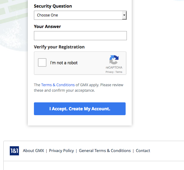 GMX account Registration