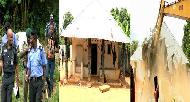 Police-Demolish-Shrine-In-Ikorodu13