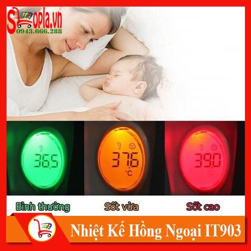 Nhiệt Kế Điện Tử Cảm Biến Hồng Ngoại 8 in 1 IT903