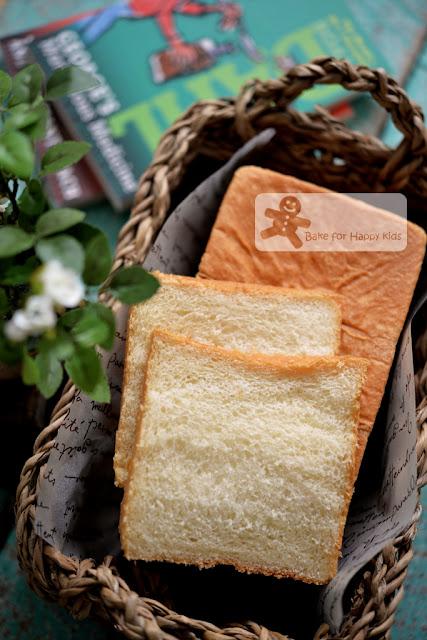 Japanese shokupan sandwich soft bread condensed milk