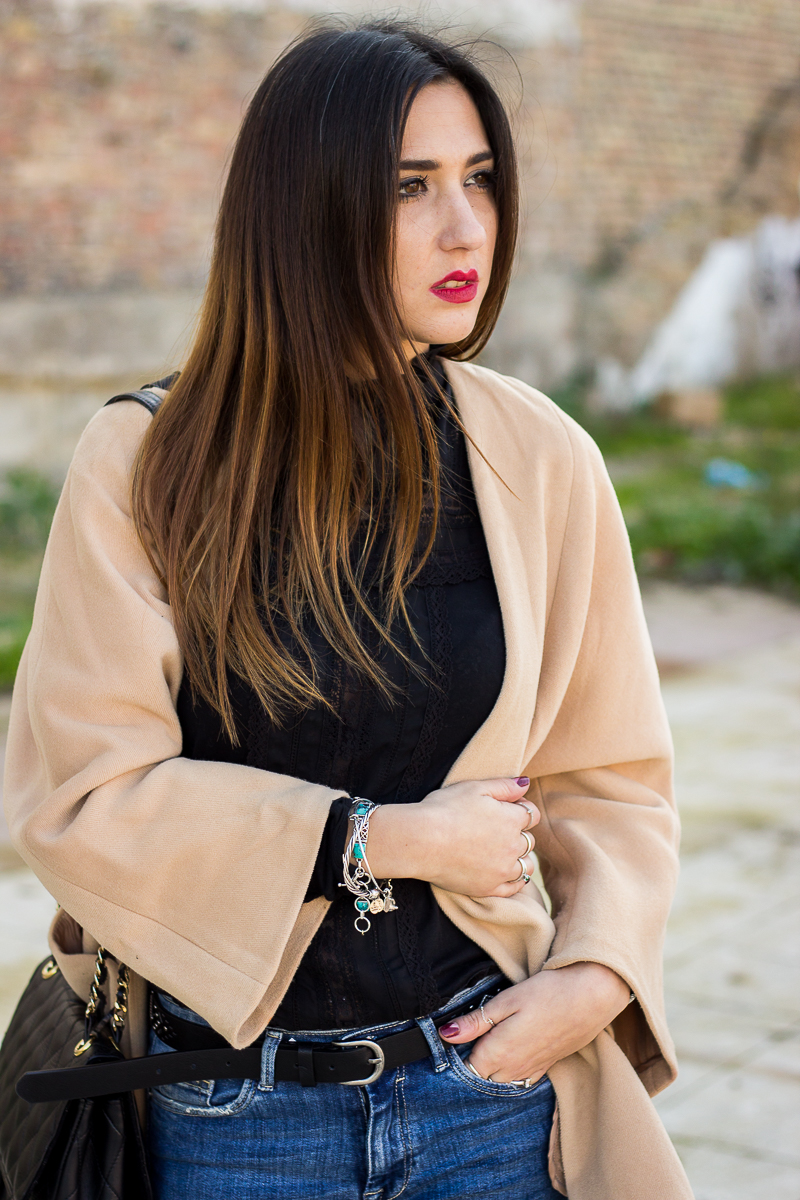cozy camel coat