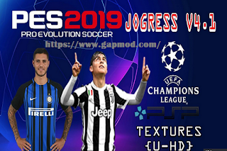 Textures & Savedata UEFA Champions League PES Jogress v4.1 2018/2019
