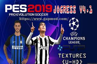 Download Textures & Savedata UEFA Champions League PES Jogress v4.1 2018/2019