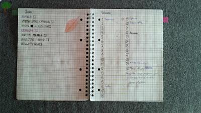 planowanie miesięczne, cele na porę roku, bujo, bullet journal, zeszyt w kratkę