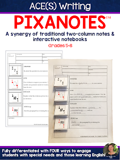 Pixanotes® is a great tool for students to use to learn how to write short answer responses!