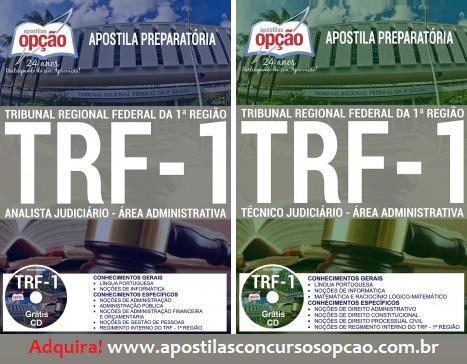 Apostila concurso TRF 1ª Região 2017 niveis médio e superior.