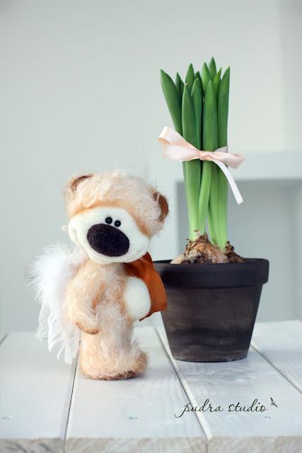 handmade teddy bear, artist teddy, mohair teddy