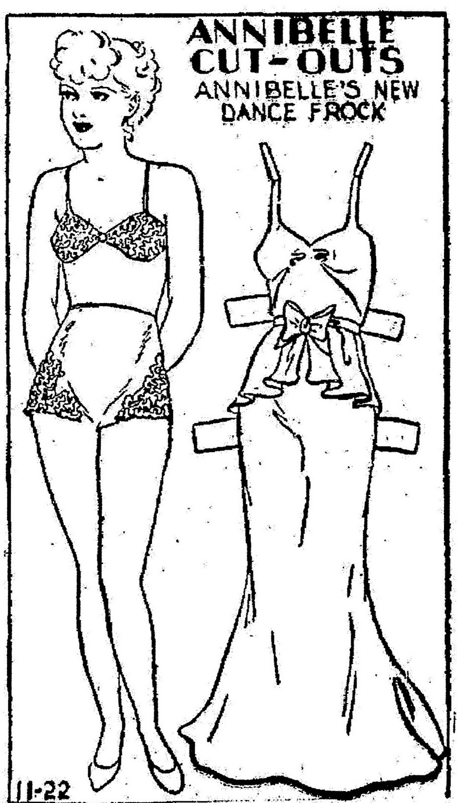 Mostly Paper Dolls: Paper Dolls From The ANNIBELLE Comic Strip