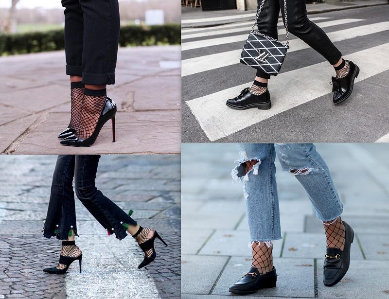 fishnet socks street style