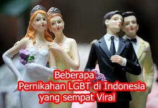 Beberapa Pernikahan LGBT di Indonesia yang sempat Viral