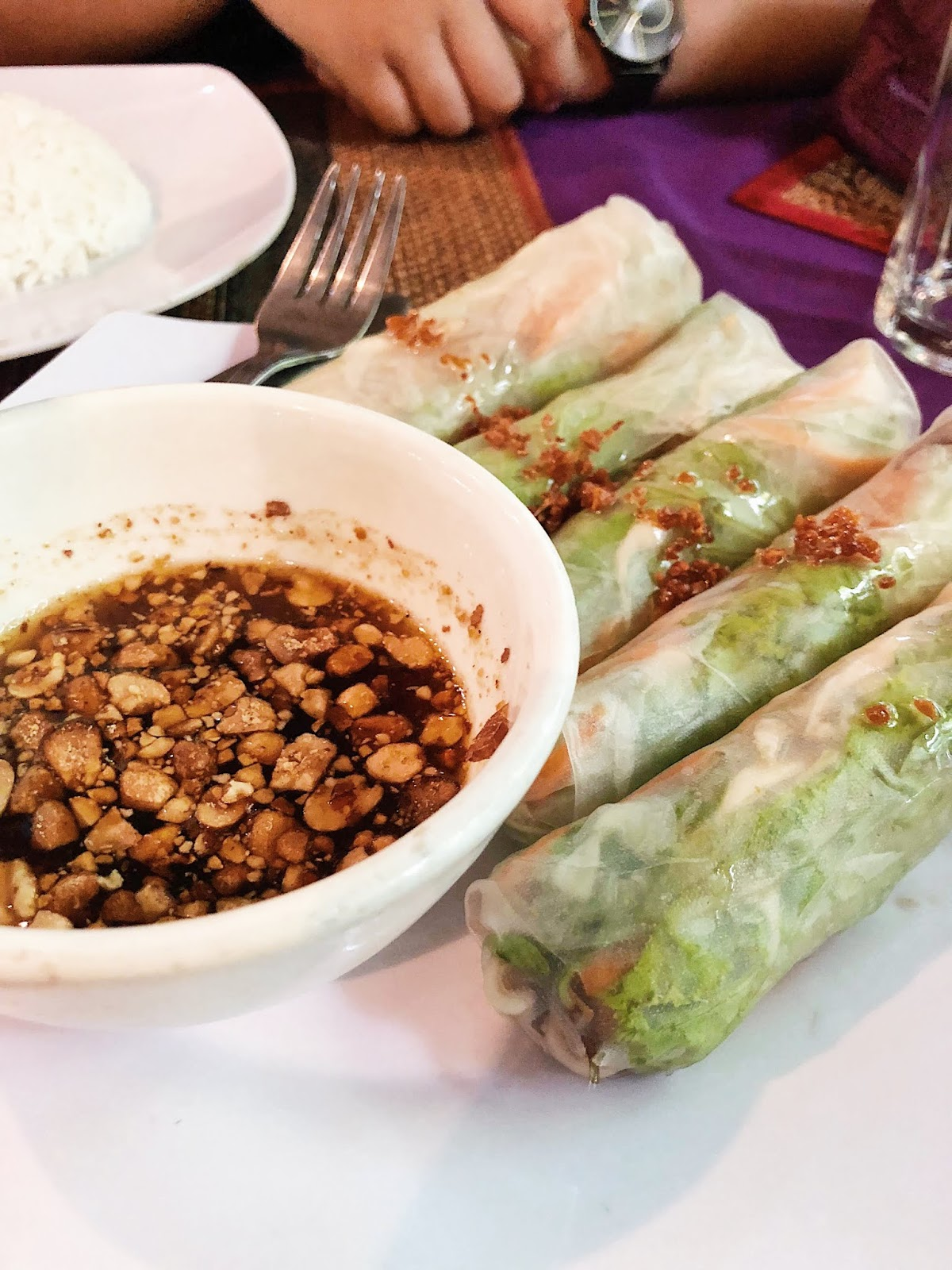 Vietnamese fresh spring roll for lunch