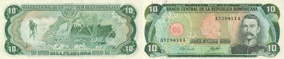 República Dominicana: Billete de 10 pesos oro de 1978