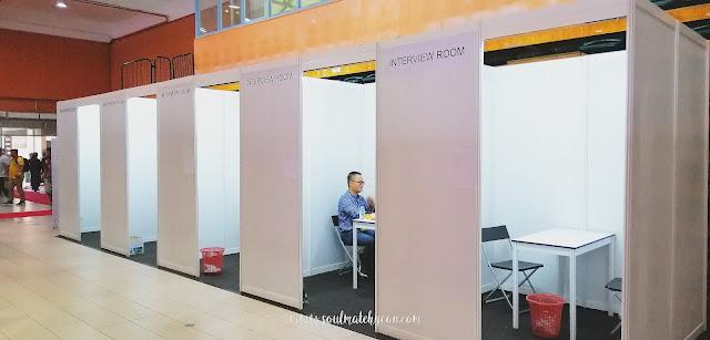 Interview rooms; Sabah Job & Entrepreneur Fair 2018 @ Kompleks Sukan Kota Kinabalu (Likas)