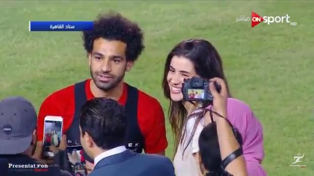 محمد صلاح يعمل ضجة بحضوره التدريب قبل السفر الى روسيا للمنتخب المصري