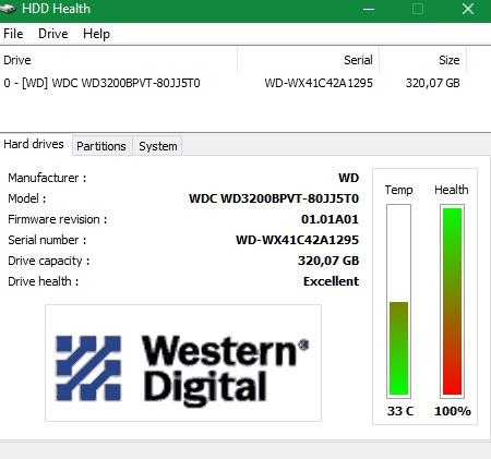HDD Health 4.2 - Παρακολουθήστε την υγεία του σκληρού σας δίσκου
